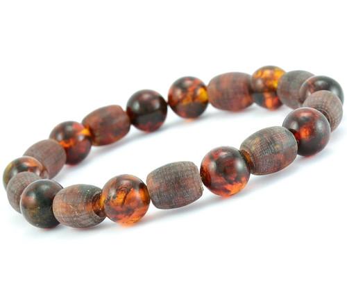 Men's amber healing bracelet