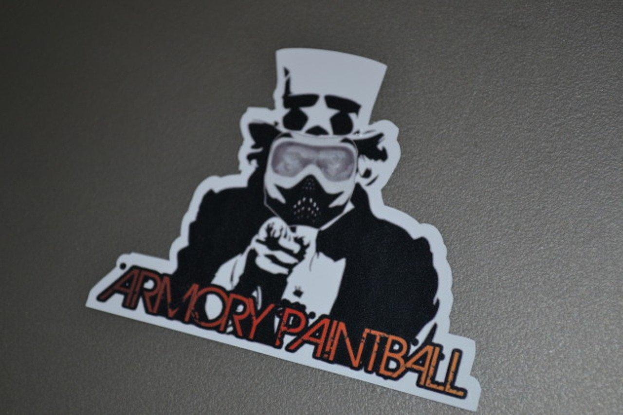 """ArmoryPaintball.com """"Uncle Sam"""" Sticker"""