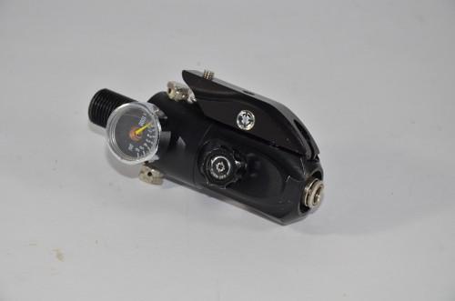Smart Parts - Mini MaxFlo Regulator W/ Rail Mount - Dust Black / 4500psi