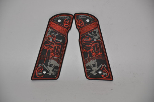 Bloodworks SD Aftermath .45 Grip Panels - Red / RARE