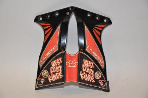 Hybrid Paintball Matrix UL Grips - West Coast Kings - Red