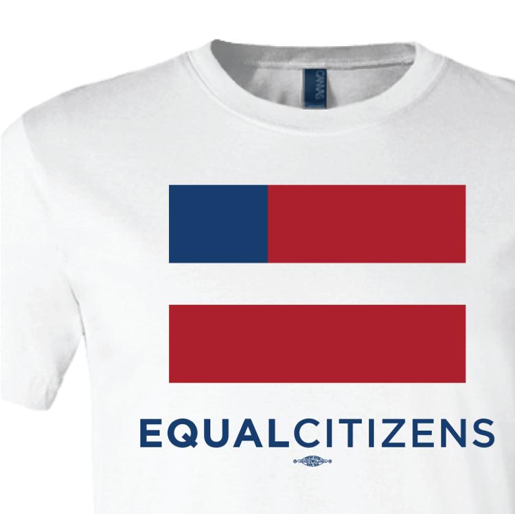 Equal Citizens Logo ( Unisex White Tee)