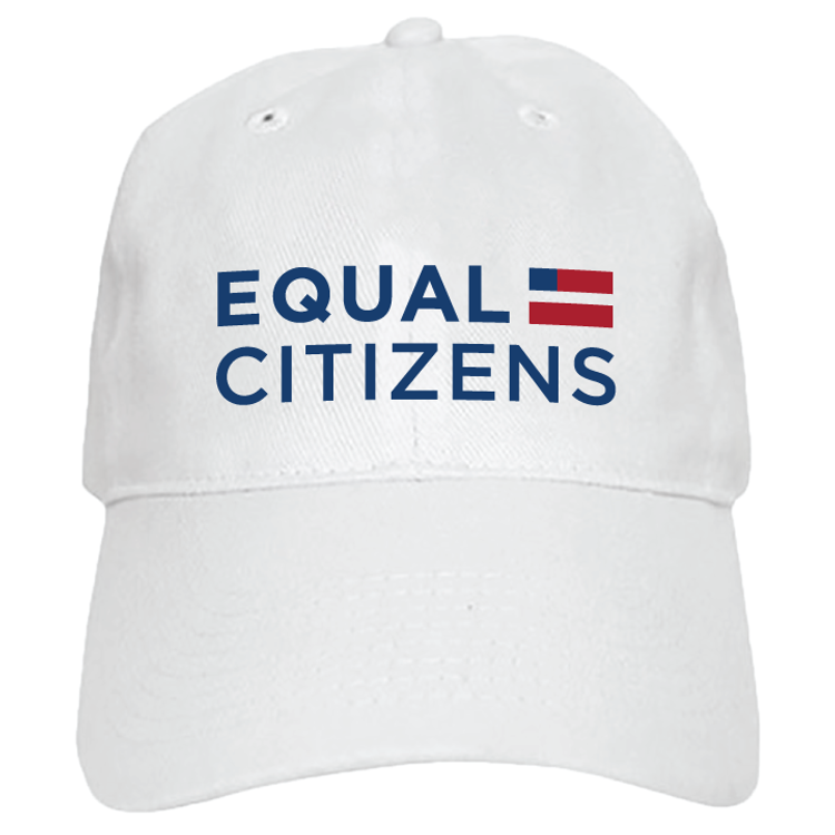 Equal Citizens Logo (White Baseball Cap)