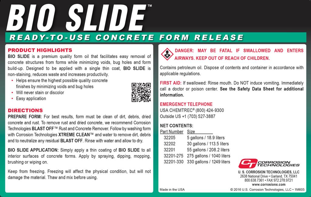 Bio Slide ready-to-use concrete form release