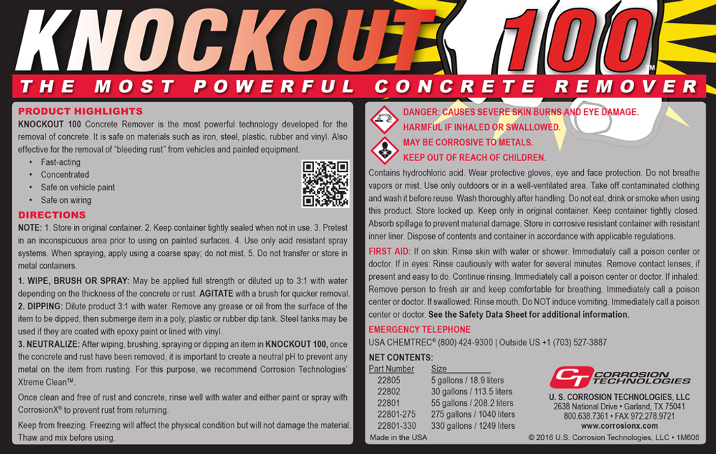 Knockout 100 concrete remover