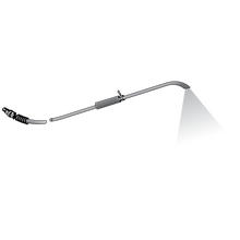 Superflex Wand is a 3' flexible wand with  45˚ fan spray