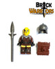 Custom LEGO® Minifigure - Female Elf Warrior Pack Contents