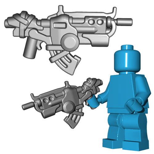 Minifigure Gun - Ground Dweller Battle Rifle