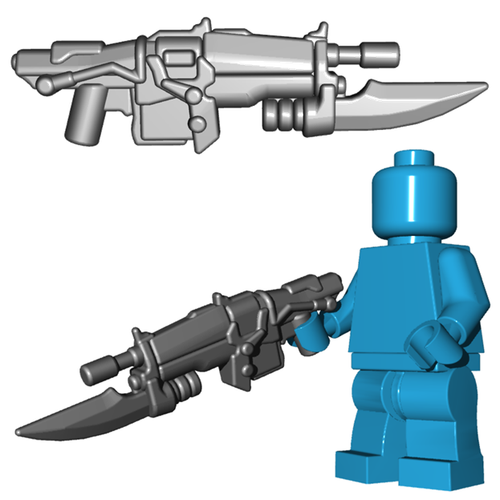 Minifigure Gun - Impaler Assault Rifle