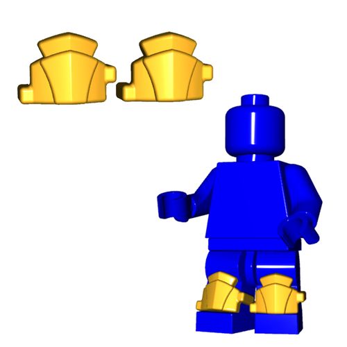 Minifigure Armor - Greaves (Pair)