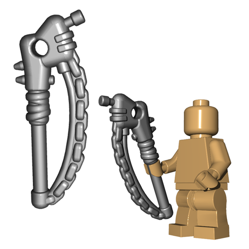 Minifigure Weapon - Chained Pipe