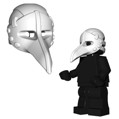 Minifigure Helmet - Plague Doctor Mask