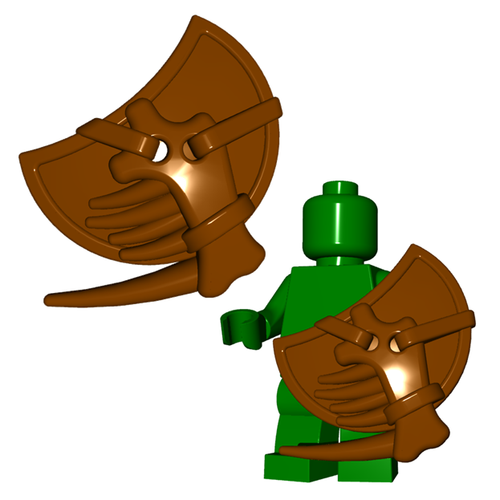 Minifigure Shield - Lizardman Shield