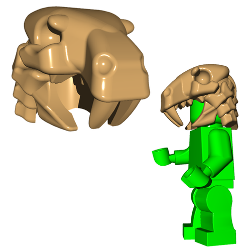 Minifigure Helmet - Sabertooth Helm