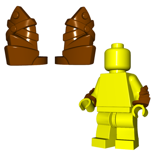 Minifigure Armor - Leather Vambraces (Pair)