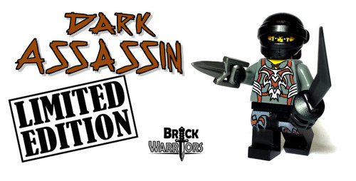 Custom LEGO® Minifigure - Dark Assassin