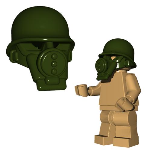 Custom Minifigure Helmet - US Gas Mask