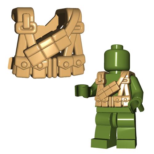 Minifigure Armor - US Gunner Suspenders