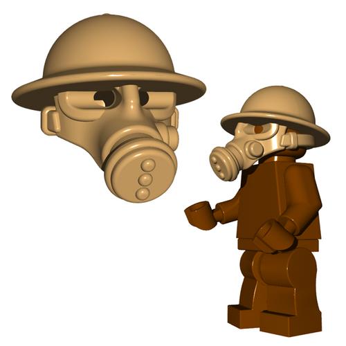 Minifigure Helmet - British Gas Mask