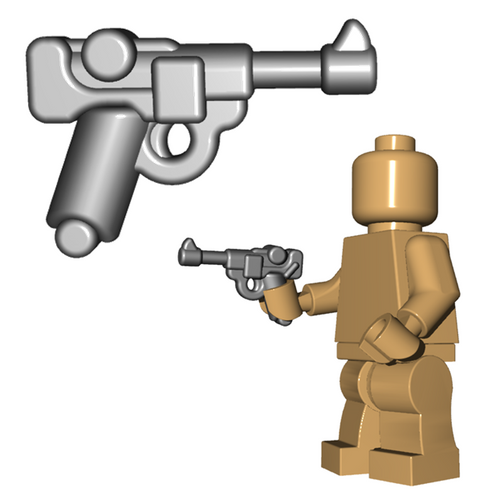 Minifigure Gun - German Officer Pistol
