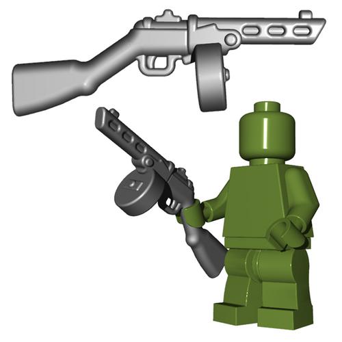 Minifigure Gun - Soviet SMG