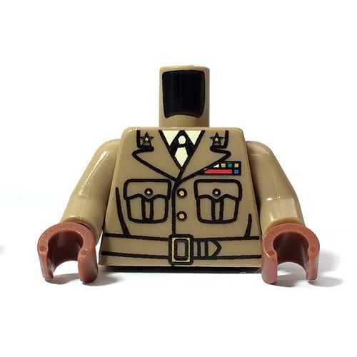 Minifigure Custom Torso - US Officer