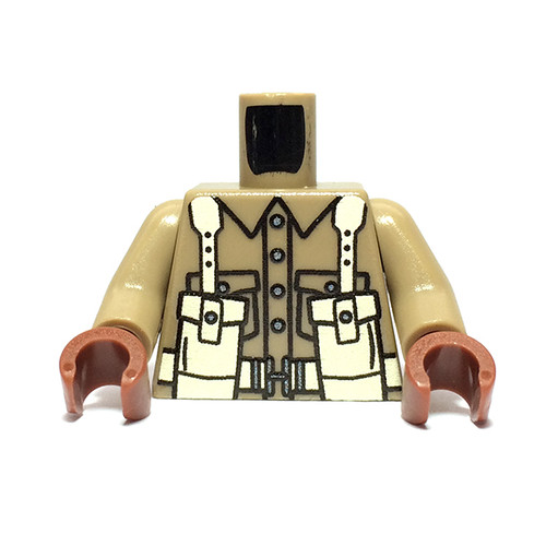 Custom Printed Minifigure Torso - British Infantry