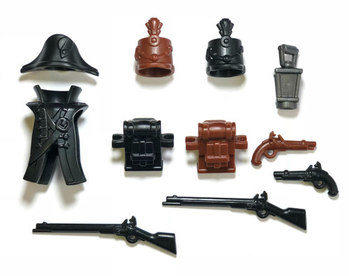 "BrickWarriors 2.5"" Scale Colonial Soldier Army Builder Pack"