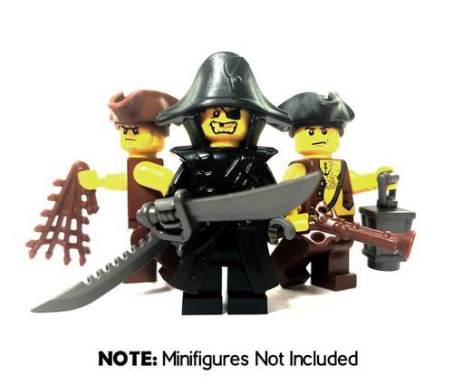 BrickWarriors Pirate Crew Minifigure Accessories