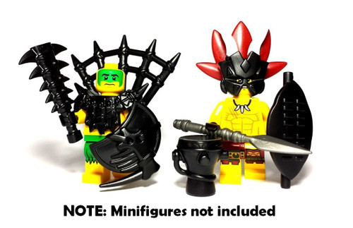 BrickWarriors Island Warrior Minifigure Accessories