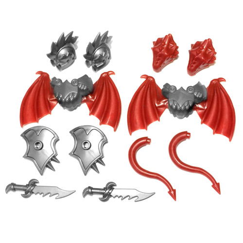 "BrickWarriors 2.5"" Scale Demon and Dragon Army Builder Pack"