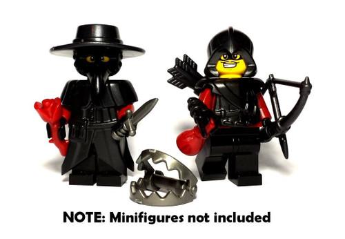 BrickWarriors Assassin Disguise Minifigure Accessories