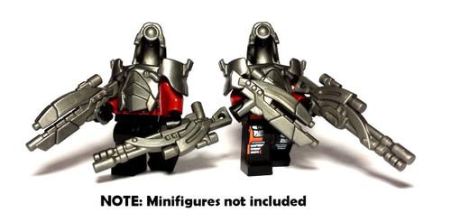 BrickWarriors Alien Invader Minifigure Accessories