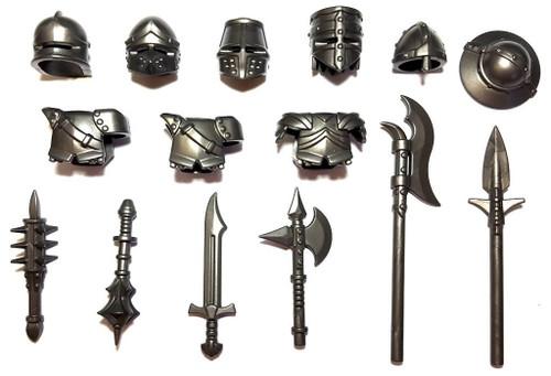 """BrickWarriors 2.5"""" Scale Medieval Crusader Army Builder Pack"""