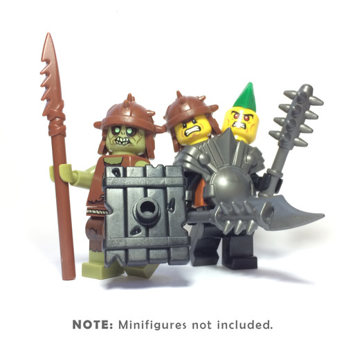 BrickWarriors Two-Headed Ogre Minifigure Accessories