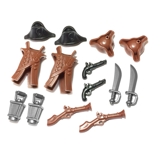 BrickWarriors Pirate Captain Minifigure Accessories