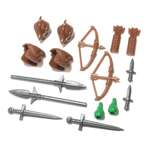 "BrickWarriors 2.5"" Scale Ranger Army Builder Pack"