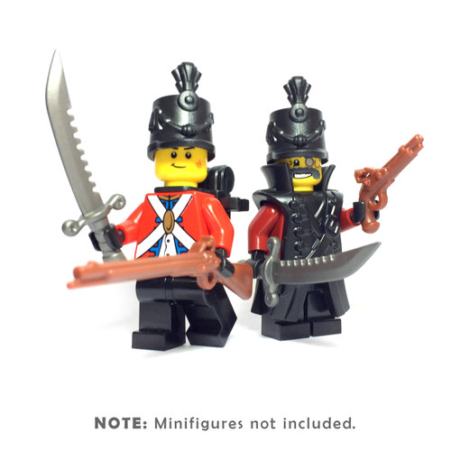 BrickWarriors Redcoat Army Minifigure Accessories