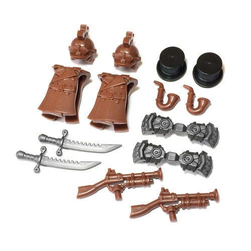 BrickWarriors Steampunk Crew Minifigure Accessories