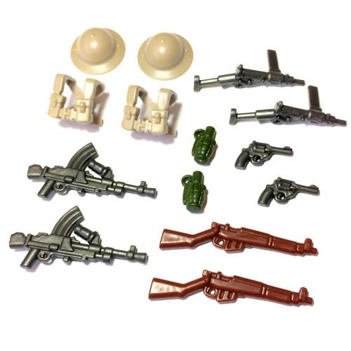 "BrickWarriors 2.5"" Scale WW2 British Infantry Army Builder Pack"