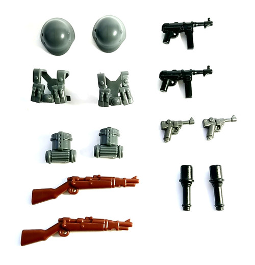 "BrickWarriors 2.5"" Scale WW2 German Infantry Army Builder Pack"