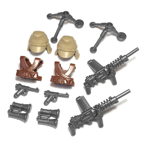 "BrickWarriors 2.5"" Scale WW2 Japanese Gunner Army Builder Pack"
