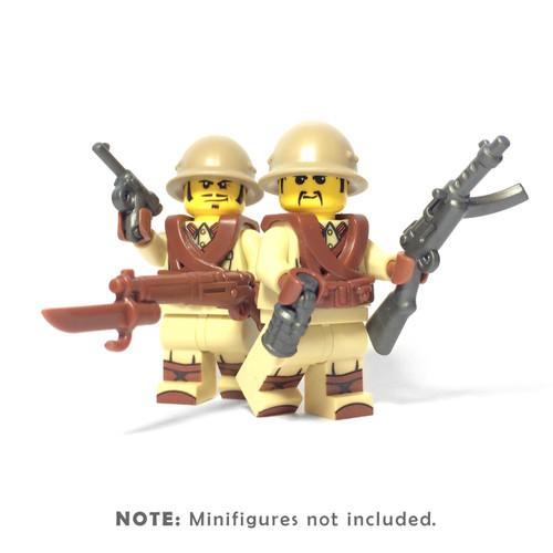 BrickWarriors WW2 Japanese Infantry Minifigure Accessories