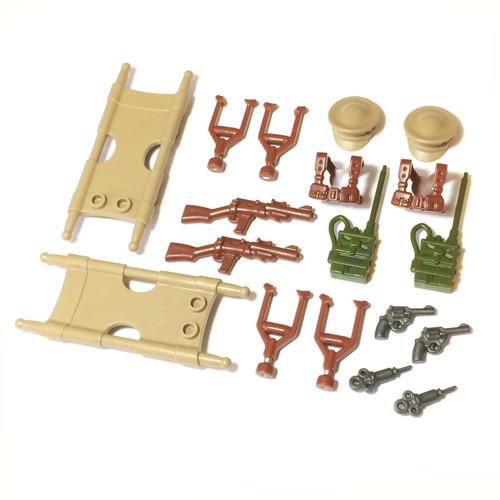 BrickWarriors WW2 Medic Minifigure Accessories