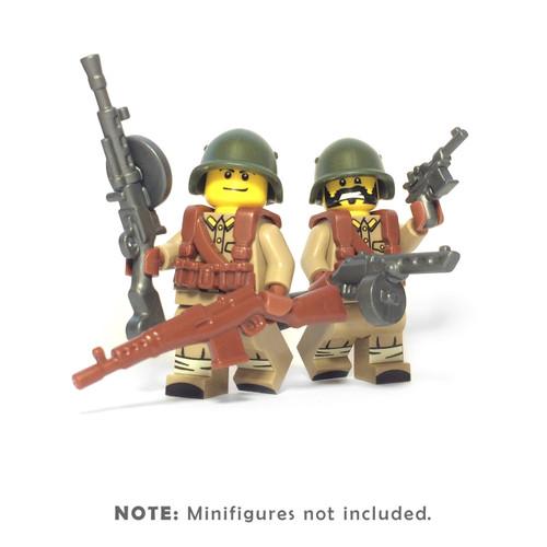 BrickWarriors WW2 Soviet Infantry Minifigure Accessories