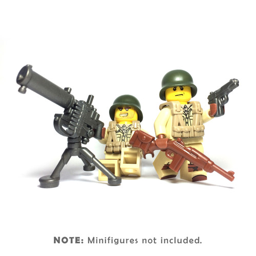 BrickWarriors WW2 US Gunner Minifigure Accessories