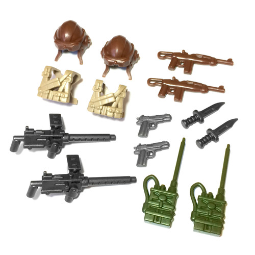 "BrickWarriors 2.5"" Scale WW2 US Pilot Army Builder Pack"