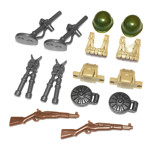 "BrickWarriors 2.5"" Scale WW2 US Sapper Army Builder Pack"