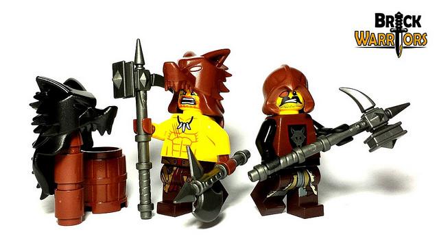 Custom LEGO Helmet Spotlight - Wolf Pelt Helm - BrickWarriors Horned Viking Helmet Goblin Rocket Helmet