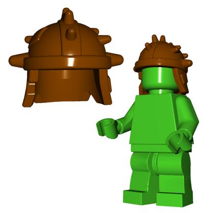 Minifigure Helmet - Goblin Helmet Horned Viking Helmet Goblin Rocket Helmet